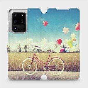 Flipové pouzdro Mobiwear na mobil Samsung Galaxy S20 Ultra - M133P Kolo a balónky