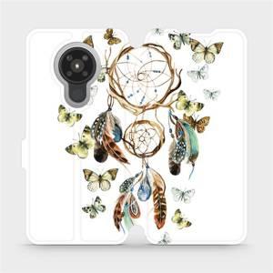 Flipové pouzdro Mobiwear na mobil Nokia 5.3 - M001P Lapač a motýlci