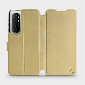 Flipové pouzdro Mobiwear na mobil Xiaomi Mi Note 10 Lite v provedení C_GOP Gold&Orange s oranžovým vnitřkem