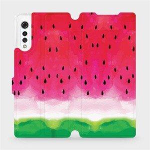 Flipové pouzdro Mobiwear na mobil LG Velvet - V086S Melounek
