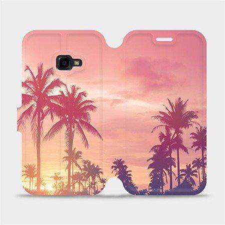 Flipové pouzdro Mobiwear na mobil Samsung Xcover 4 - M134P Palmy a růžová obloha