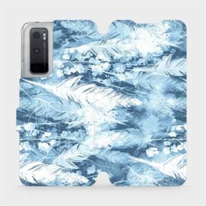 Flipové pouzdro Mobiwear na mobil Vivo Y70 - M058S Světle modrá horizontální pírka