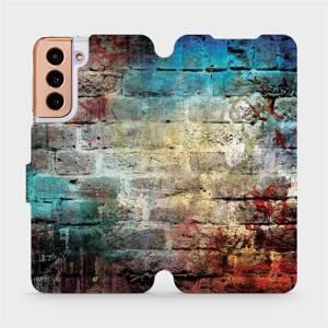 Flipové pouzdro Mobiwear na mobil Samsung Galaxy S21 5G - V061P Zeď