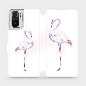 Flipové pouzdro Mobiwear na mobil Xiaomi Redmi Note 10 - M005S Plameňáci