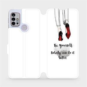 Flipové pouzdro Mobiwear na mobil Motorola Moto G10 - M046P Be yourself