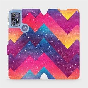 Flipové pouzdro Mobiwear na mobil Motorola Moto G30 - V110S Barevné klikyháky