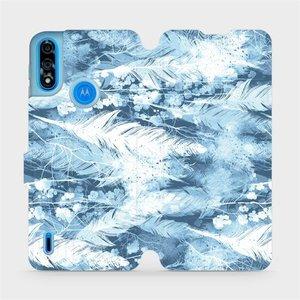 Flipové pouzdro Mobiwear na mobil Motorola Moto E7i Power - M058S Světle modrá horizontální pírka