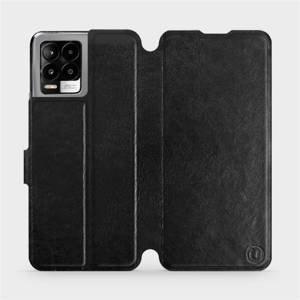Flip pouzdro Mobiwear na mobil Realme 8 v provedení C_BLS Black&Gray s šedým vnitřkem