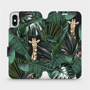 Flip pouzdro Mobiwear na mobil Apple iPhone XS - VP06P Žirafky