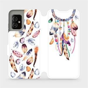 Flip pouzdro Mobiwear na mobil Asus Zenfone 8 - M003S Lapač a barevná pírka