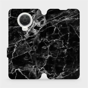 Flip pouzdro Mobiwear na mobil Nokia G20 - V056P Černý mramor