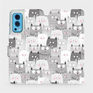 Flip pouzdro Mobiwear na mobil OnePlus Nord 2 5G - M099P Kočičky
