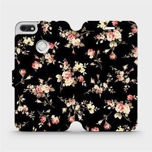 Flipové pouzdro Mobiwear na mobil Huawei P9 Lite mini - VD02S Květy na černé