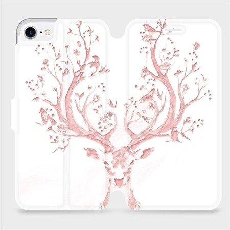 Flipové pouzdro Mobiwear na mobil Apple iPhone 8 - M007S Růžový jelínek