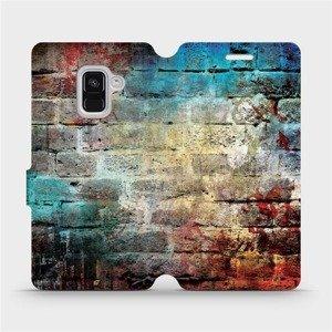 Flipové pouzdro Mobiwear na mobil Samsung Galaxy A8 2018 - V061P Zeď