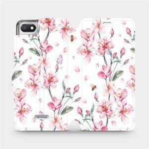 Flipové pouzdro Mobiwear na mobil Xiaomi Redmi 6A - M124S Růžové květy