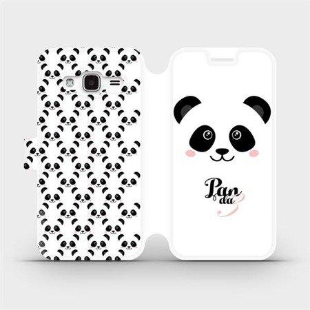 Flipové pouzdro Mobiwear na mobil Samsung Galaxy J3 2016 - M030P Panda Amálka