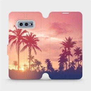 Flipové pouzdro Mobiwear na mobil Samsung Galaxy S10e - M134P Palmy a růžová obloha
