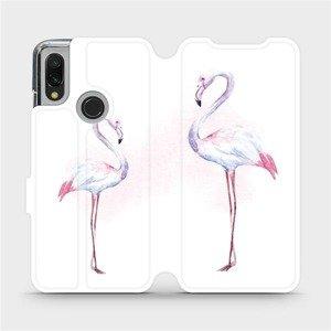 Flipové pouzdro Mobiwear na mobil Xiaomi Redmi 7 - M005S Plameňáci