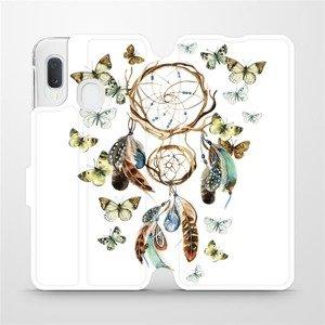 Flipové pouzdro Mobiwear na mobil Samsung Galaxy A20e - M001P Lapač a motýlci
