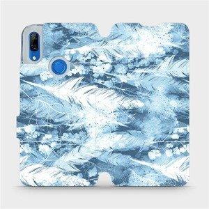 Flipové pouzdro Mobiwear na mobil Huawei P Smart Z - M058S Světle modrá horizontální pírka