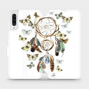 Flipové pouzdro Mobiwear na mobil Samsung Galaxy A30s - M001P Lapač a motýlci