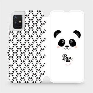 Flipové pouzdro Mobiwear na mobil Samsung Galaxy A51 - M030P Panda Amálka