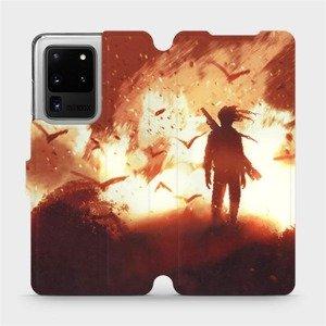 Flipové pouzdro Mobiwear na mobil Samsung Galaxy S20 Ultra - MA06S Postava v ohni