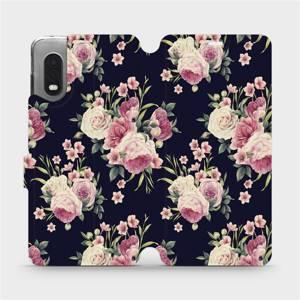 Flipové pouzdro Mobiwear na mobil Samsung Xcover PRO - V068P Růžičky