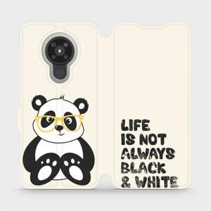 Flipové pouzdro Mobiwear na mobil Nokia 5.3 - M041S Panda - life is not always black and white