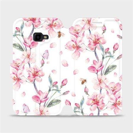 Flipové pouzdro Mobiwear na mobil Samsung Xcover 4 - M124S Růžové květy