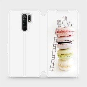 Flipové pouzdro Mobiwear na mobil Xiaomi Redmi 9 - M090P Makronky - have a nice day