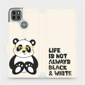 Flipové pouzdro Mobiwear na mobil Motorola Moto G9 Power - M041S Panda - life is not always black and white
