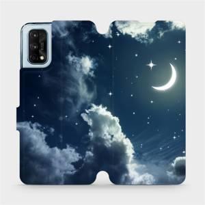 Flipové pouzdro Mobiwear na mobil Realme 7 Pro - V145P Noční obloha s měsícem - výprodej