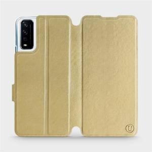 Flipové pouzdro Mobiwear na mobil Vivo Y11S v provedení C_GOP Gold&Orange s oranžovým vnitřkem