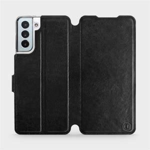Flipové pouzdro Mobiwear na mobil Samsung Galaxy S21 Plus 5G v provedení C_BLS Black&Gray s šedým vnitřkem