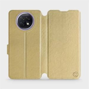 Flipové pouzdro Mobiwear na mobil Xiaomi Redmi Note 9T 5G v provedení C_GOS Gold&Gray s šedým vnitřkem