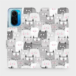 Flipové pouzdro Mobiwear na mobil Xiaomi Mi 11i / Xiaomi Poco F3 - M099P Kočičky