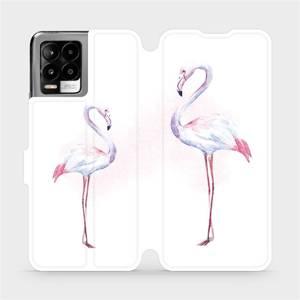 Flip pouzdro Mobiwear na mobil Realme 8 - M005S Plameňáci