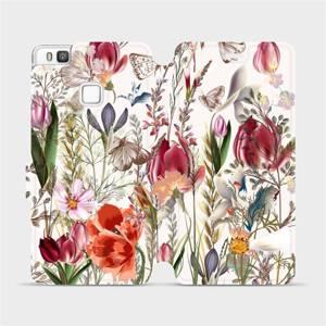 Flip pouzdro Mobiwear na mobil Huawei P9 Lite - MP01S Rozkvetlá louka