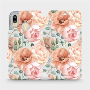 Flip pouzdro Mobiwear na mobil Huawei P20 Lite - MP02S Pastelové květy