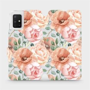 Flip pouzdro Mobiwear na mobil Samsung Galaxy A51 - MP02S Pastelové květy