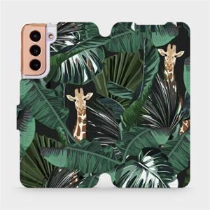 Flip pouzdro Mobiwear na mobil Samsung Galaxy S21 - VP06P Žirafky