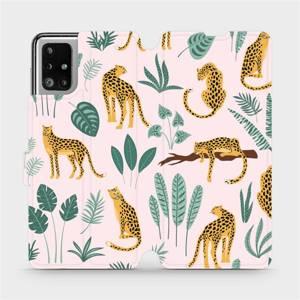 Flip pouzdro Mobiwear na mobil Samsung Galaxy M51 - MP07S Leopardi