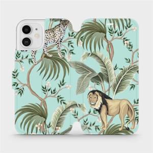 Flip pouzdro Mobiwear na mobil Apple iPhone 12 - MP08S Dvě kočičky