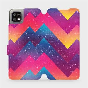 Flip pouzdro Mobiwear na mobil Samsung Galaxy A22 5G - V110S Barevné klikyháky - výprodej