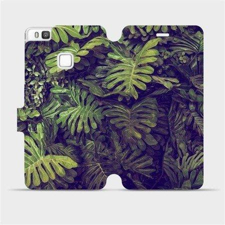Flipové pouzdro Mobiwear na mobil Huawei P9 Lite - V136P Zelená stěna z listů