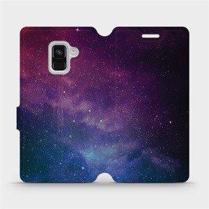 Flipové pouzdro Mobiwear na mobil Samsung Galaxy A8 2018 - V147P Mlhovina