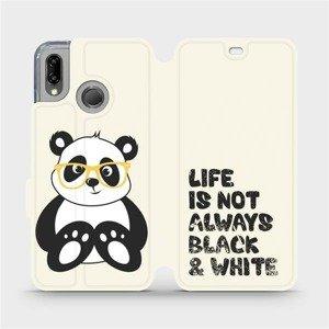 Flipové pouzdro Mobiwear na mobil Huawei P20 Lite - M041S Panda - life is not always black and white