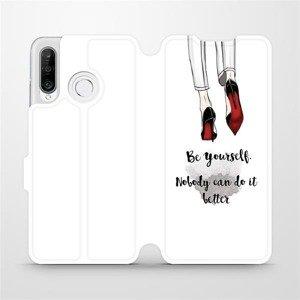 Flipové pouzdro Mobiwear na mobil Huawei P30 Lite - M046P Be yourself